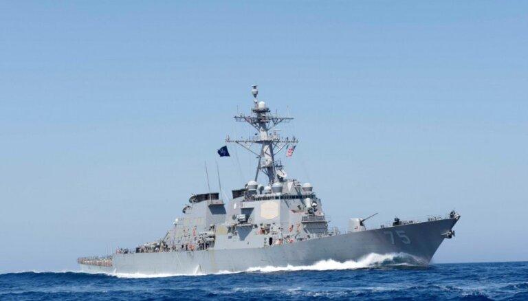 ASV iznīcinātājkuģis 'USS Donald Cook' dodas uz Melno jūru