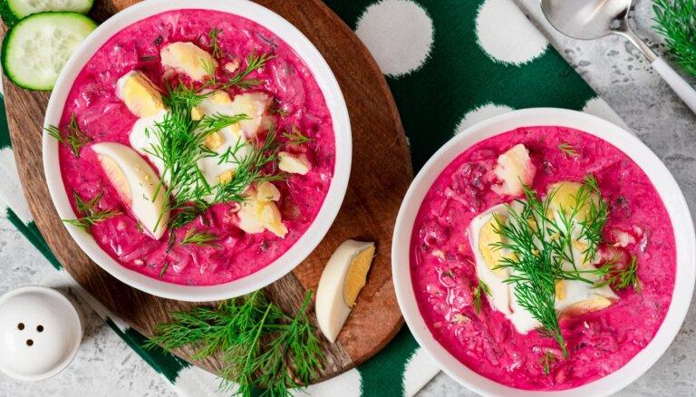 Ēd kaut katru dienu! Šefpavārs atklāj knifus, kā pagatavot izcili gardu auksto zupu