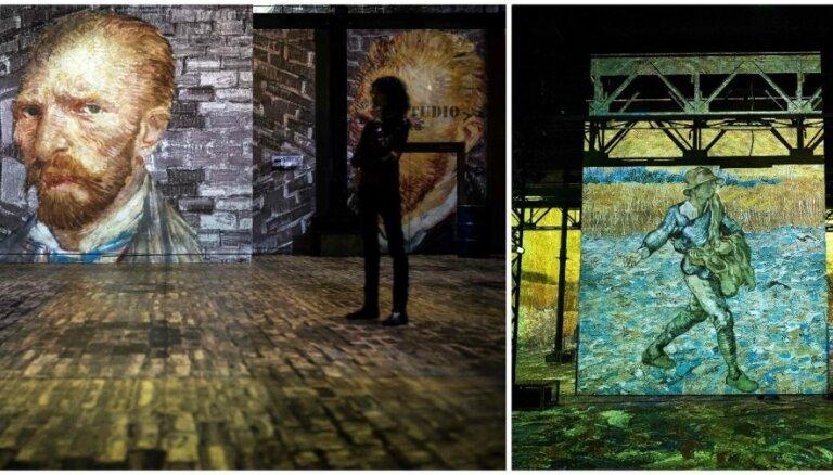 Foto: Interaktīvā izstāde Parīzē, kas ļauj izbaudīt van Goga daiļradi jaunā kvalitātē