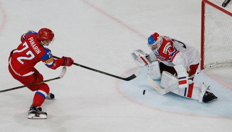 ВИДЕО: Сборная России с сухим счетом обыграла чехов в 1/4 финала ЧМ