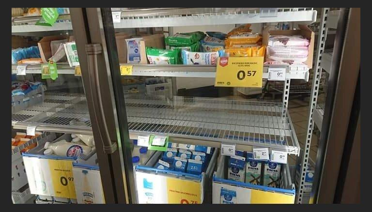 ФОТО: Пустые полки. С приходом жары купить кефир стало проблематично