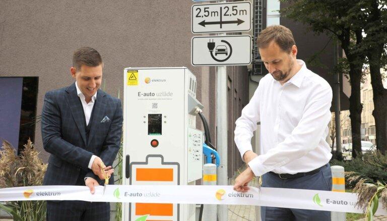 Darbu sāk 'Latvenergo' uzlādes stacijas elektromobiļiem