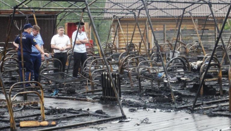 Четверо детей погибли из-за пожара в детском палаточном лагере в Хабаровском крае
