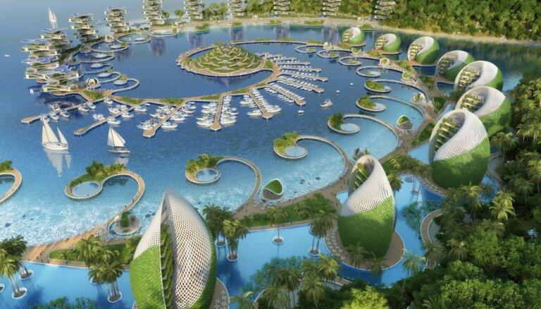 Filipīnās arhitekti plāno celt iespaidīgu un videi draudzīgu kūrortu