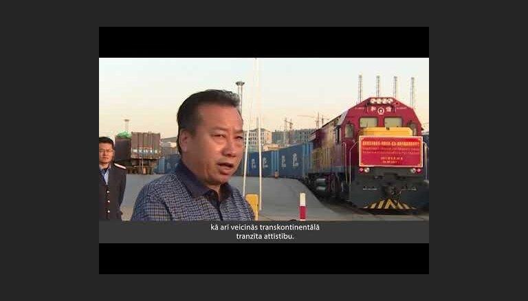 No Ķīnas uz Latviju devies jauns konteinervilciena sastāvs