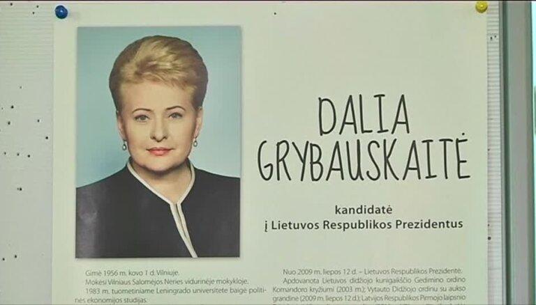 Lietuvas prezidenta amatā atkārtoti ievēlēta Grībauskaite