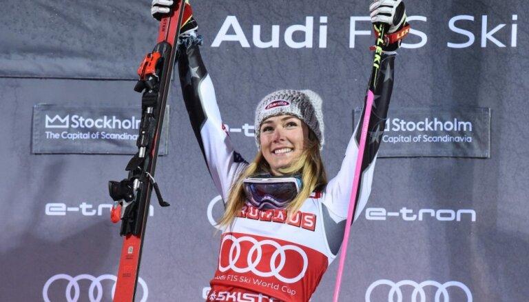 Amerikāņu kalnu slēpotāja Šifrina ar 14. uzvaru sezonā atkārto PK rekordu