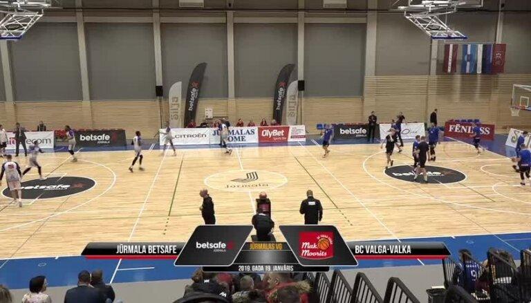 'OlyBet' basketbola līga: 'Betsafe/Jūrmala' - 'Valga-Valka/Maks&Moorits'. Spēles pilns ieraksts