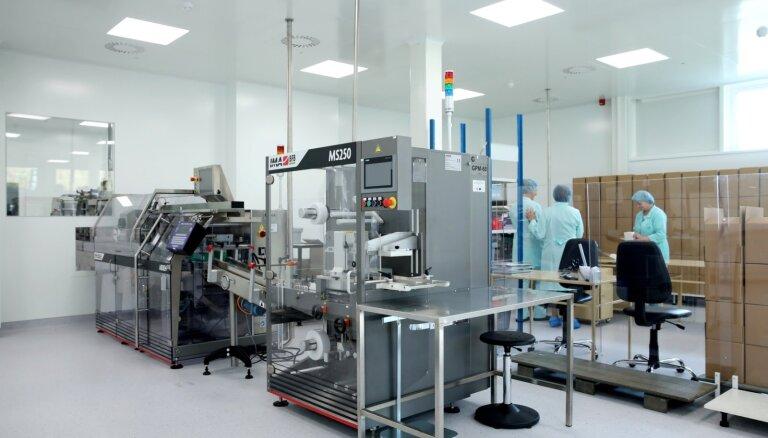 Foto: 'Olainfarm' atklājis jaunu ražošanas ēku, kurā ieguldīti 3,6 miljoni eiro