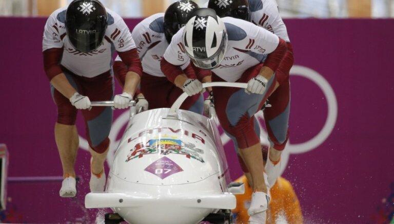 Бобслей: экипаж Латвии остался в девяти сотых от победы и взял серебро