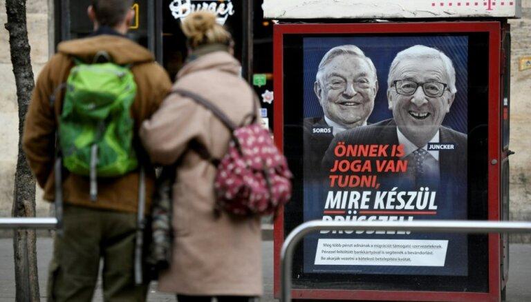 EK atspēko Ungārijas kampaņu pret imigrāciju, Junkeru un Sorosu