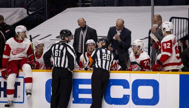 NHL tiesnesis neveiksmīgā izteikuma dēļ atbrīvots no amata
