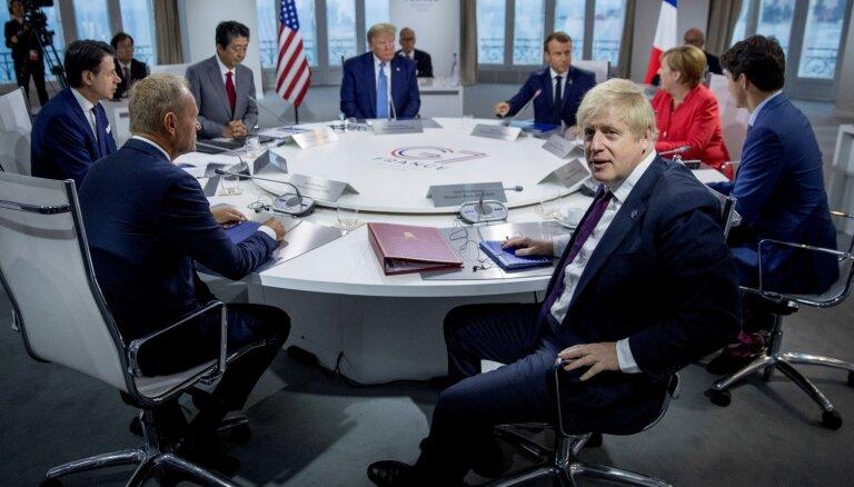 G7 līderi: Krievijas atjaunošana G8 sastāvā ir pāragra