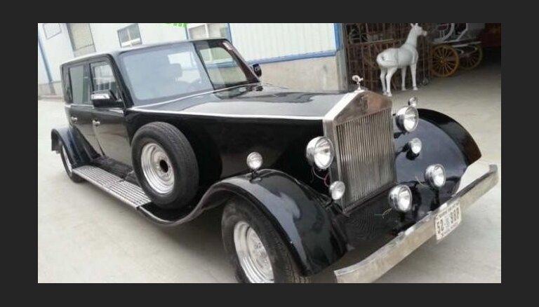 Ķīniešu elektromobilis kā 80 gadus veca 'Rolls-Royce' kopija