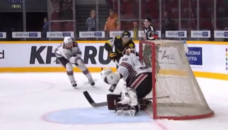 Video: Rīgas 'Dinamo' nevarīgums spēlē Čerepovecā