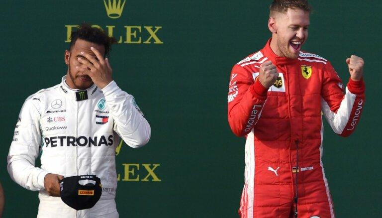 Hamiltons: 'Ferrari' būs ātri arī Bahreinā
