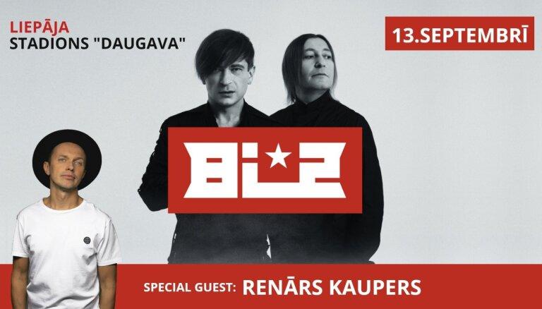 'Bi-2' koncertā Liepājā uzstāsies arī Renārs Kaupers