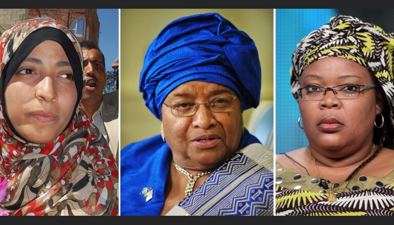 Нобелевскую премию мира получили сразу три женщины