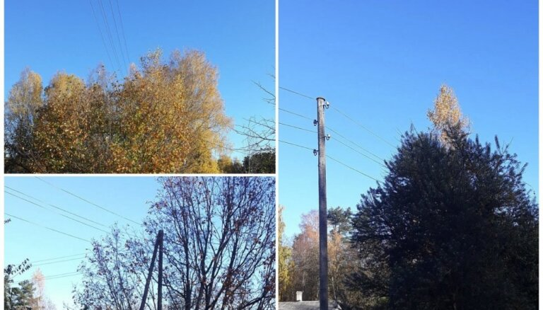 Lasītāja foto: 'Sadales tīkli' pamet novārtā elektrolīniju Saulkrastos