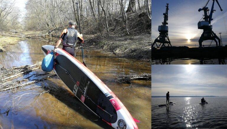 'Delfi' izmēģina: Rīga–Carnikava pa seno plostnieku maršrutu