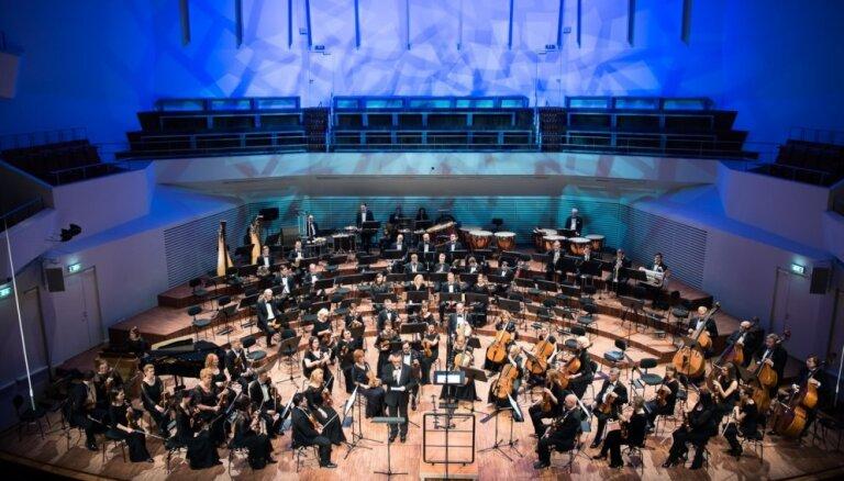Foto: LNSO un Mālera Sestā simfonija 'Lielajā dzintarā'