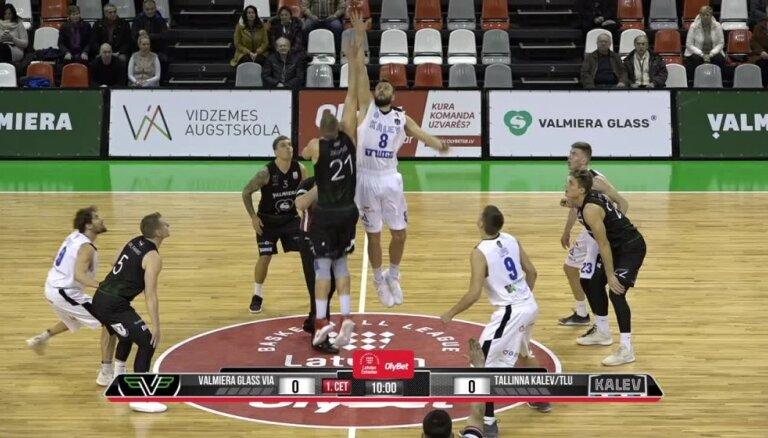 'OlyBet' basketbola līga: 'Valmiera glass/ViA' - 'Kalev/TLU'. Pilns ieraksts