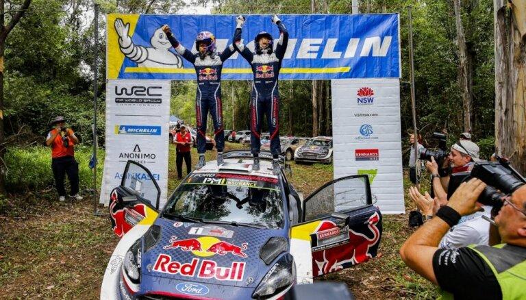 Ožjērs sesto gadu pēc kārtas kļūst par WRC čempionu