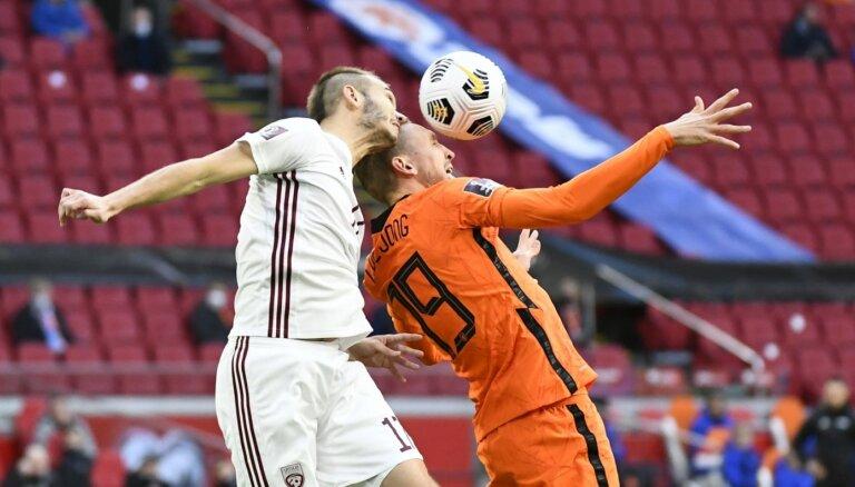 Latvijas futbola izlase mājās tiekas ar zvaigžņoto Nīderlandi