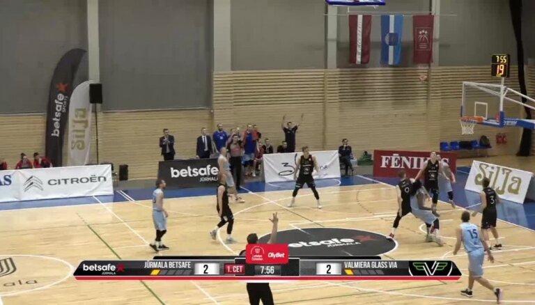 'OlyBet' basketbola līga: 'Betsafe/Jūrmala' - 'Valmiera glass/ViA'. Spēles labākie momenti