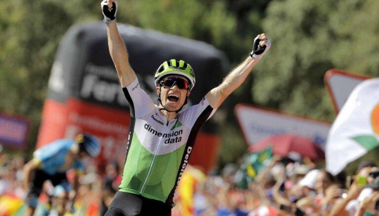 'Vuelta a Espana' ceturtajā posmā triumfē amerikānis Kings