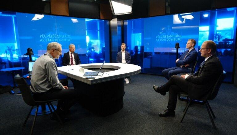 'Pēcvēlēšanu rīts ar Jāni Domburu': valdību veidojošo partiju politiķu diskusija