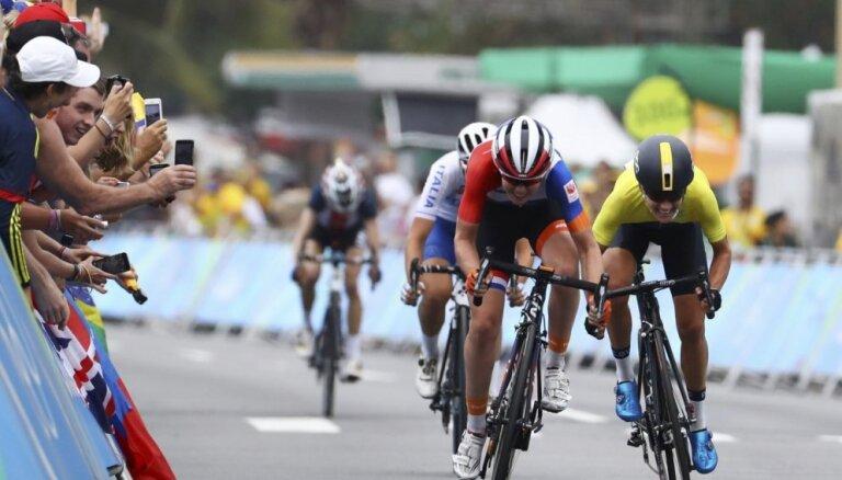 Rio olimpisko spēļu rezultāti grupas braucienā riteņbraukšanā sievietēm (07.08.2016)