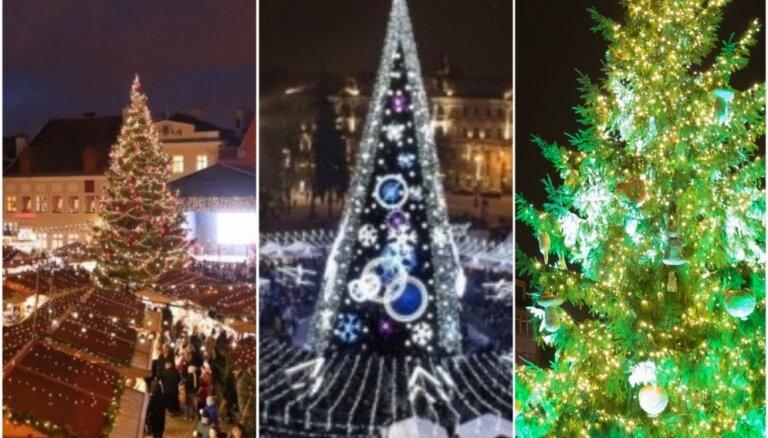 Kur krāšņāka – Rīgā, Viļņā vai Tallinā: nobalso par skaistāko eglīti