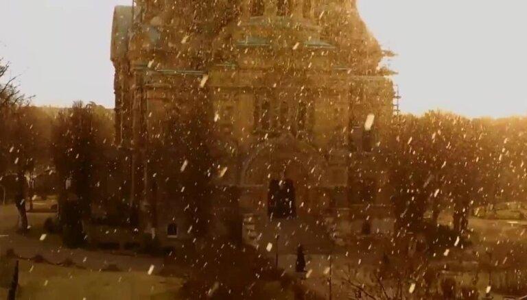 Pirmais sniegs Liepājā