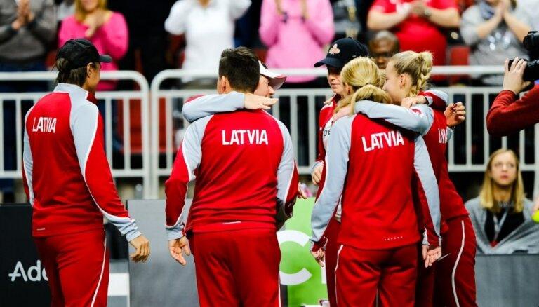 Latvijas tenisistes savā laukumā par vietu 'FedCup' Pasaules pirmajā grupā cīnīsies ar Vāciju