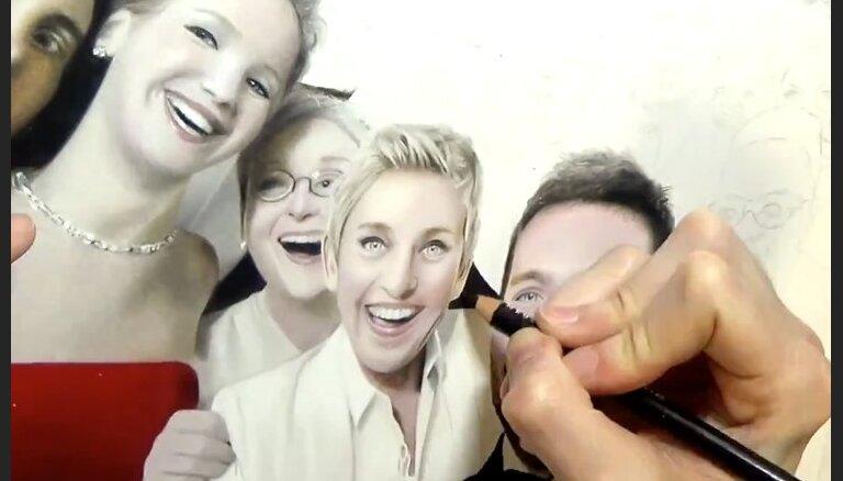 Video: Māksliniece zīmē neticami reālistiskas fotogrāfiju kopijas