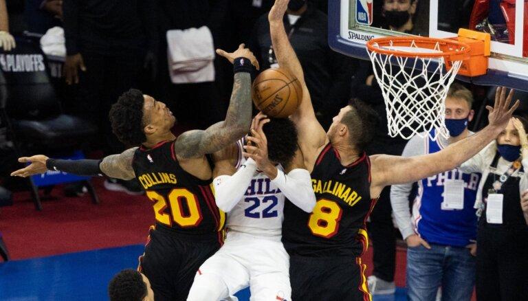'Hawks' aptur '76ers' un otro reizi 50 gadu laikā iekļūst NBA pusfinālā