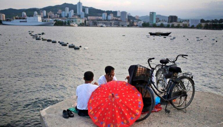 Ziemeļkoreja par spīti sankcijām turpina pārdot ogles, dzelzi un tēraudu