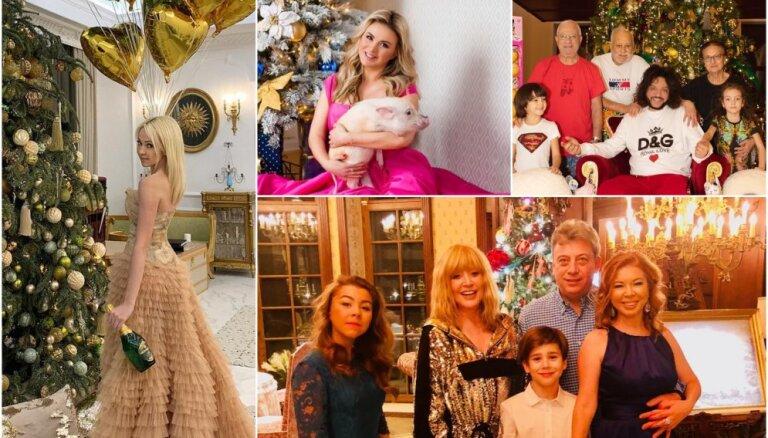 Greznība un šiks: Kā svētkus svin Krievijas šovbiznesa zvaigznes