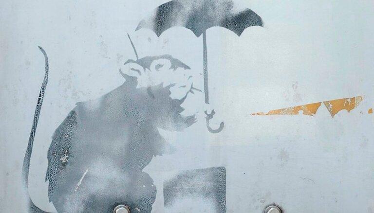 Tokijā, iespējams, uziets vēl viens Benksija darbs – slavenā žurka ar lietussargu