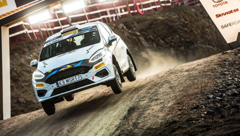 Sesks izcīna otro vietu Zviedrijas rallija junioru ieskaitē; Rovanperem pirmais WRC pjedestāls