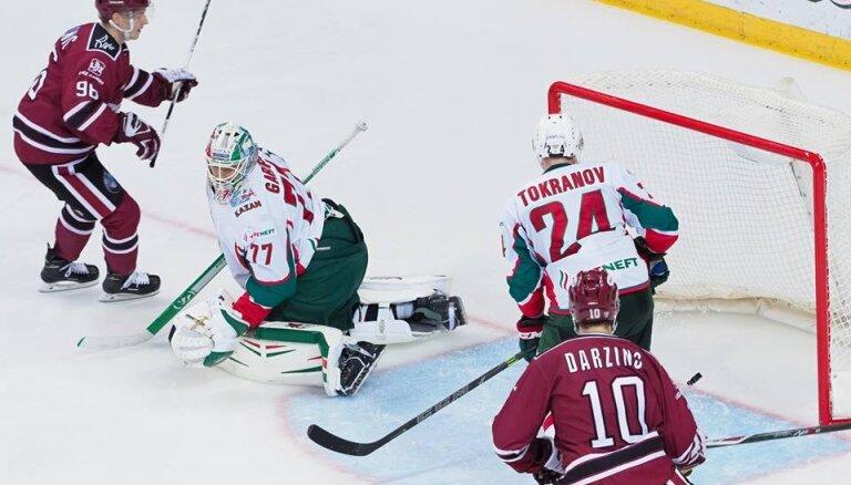 ВИДЕО: Динамовцы Риги сушат Казань, Калныньш оформил первый шат-аут в КХЛ