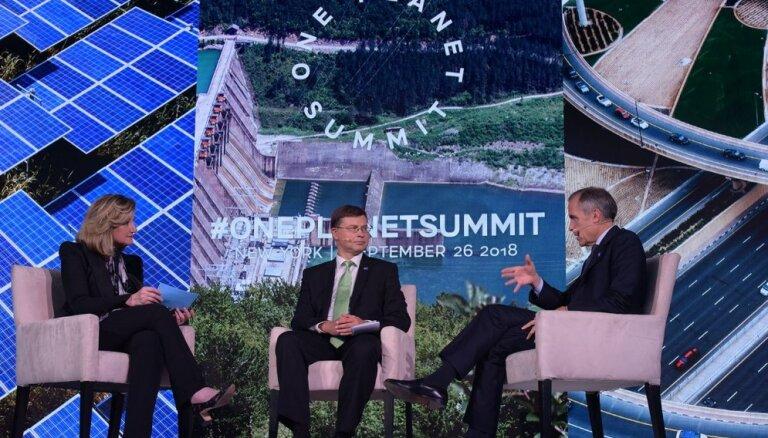 Valdis Dombrovskis: Klimatam nepieciešamas vērienīgas investīcijas