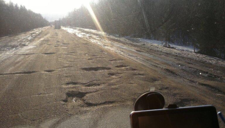 Automašīnu rindas Grebņevas robežkontroles punktā sarukušas uz pusi