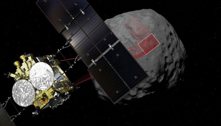 Japānas zonde 'Hayabusa2' radījusi krāteri asteroīdā