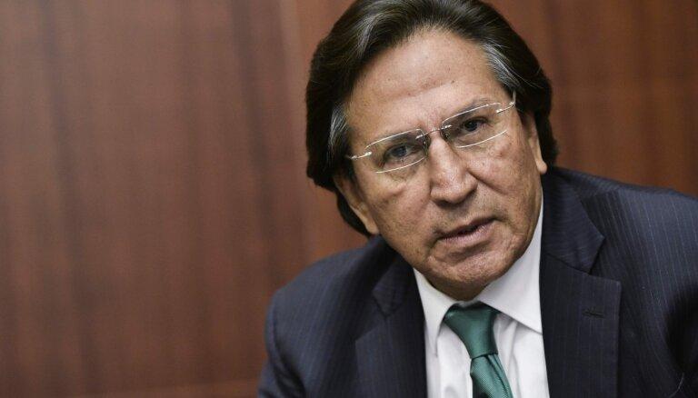 ASV aizturēts korupcijā apsūdzēts Peru eksprezidents