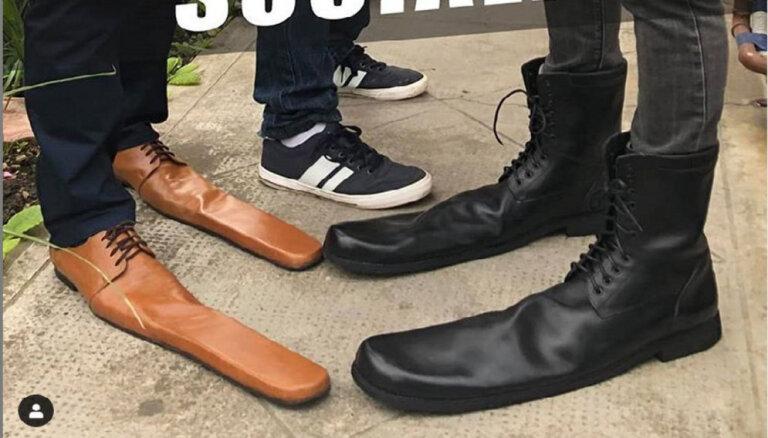 ФОТО. Придумана обувь для соблюдения социальной дистанции