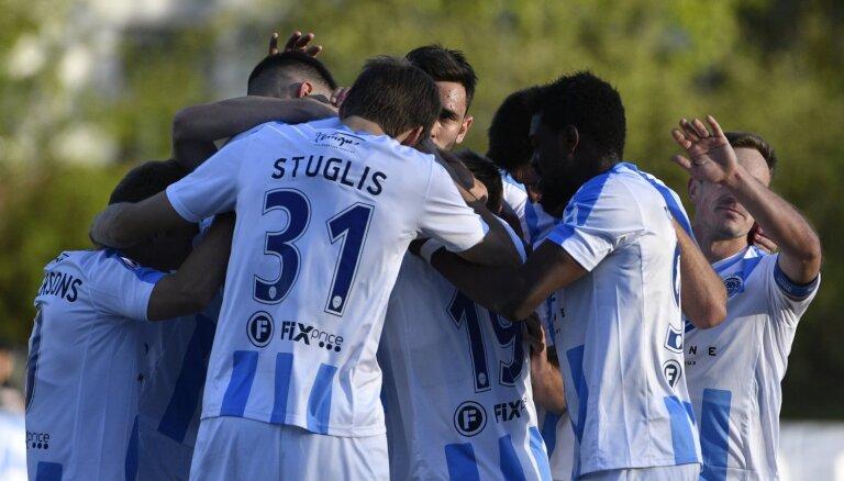 'Riga' futbolisti grauj 'Metta' komandu; Ulimbaševs izrauj 'Ventspilij' uzvaru pār 'Jelgavu'