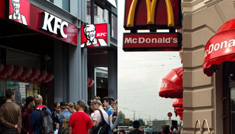 'McDonald's' paziņo par jauniem restorāniem Latvijā; noliedz 'burgeru karus' ar KFC