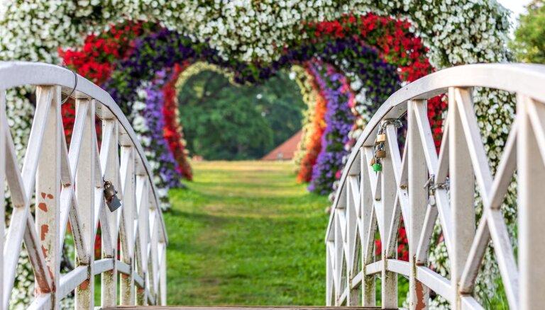 Pakrojas muižā visu vasaru būs apskatāmās īpašas ziedu skulptūras